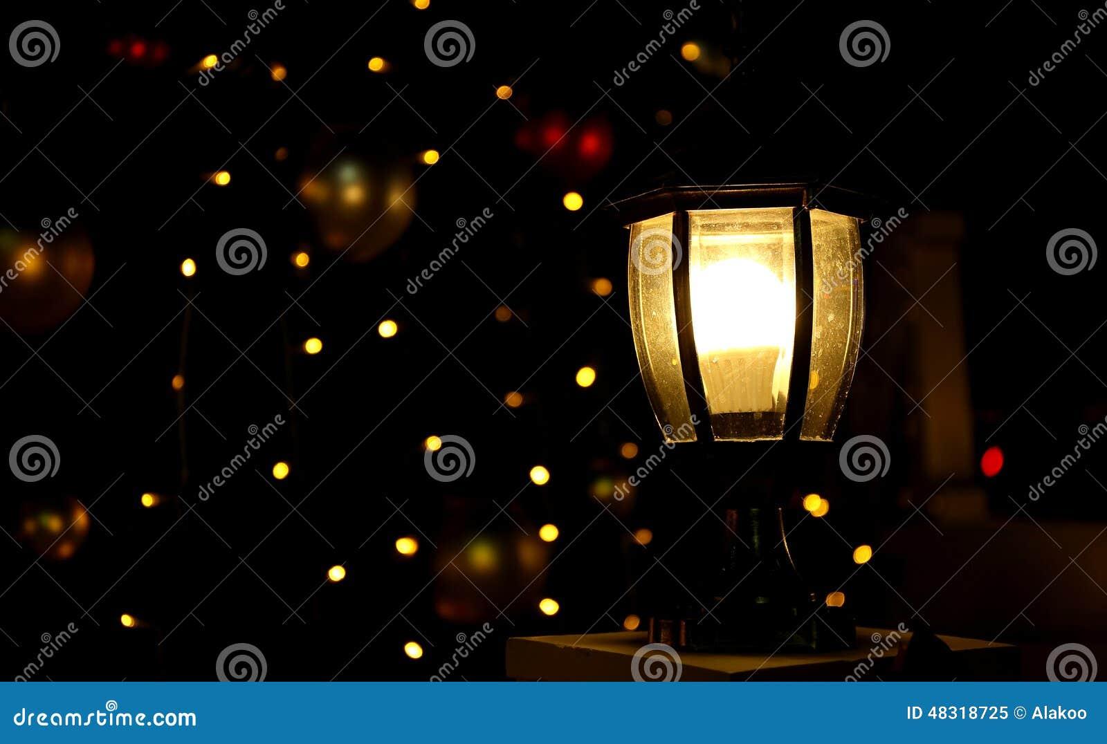 Christmas Tree Lights Light Background Stock Photo Image