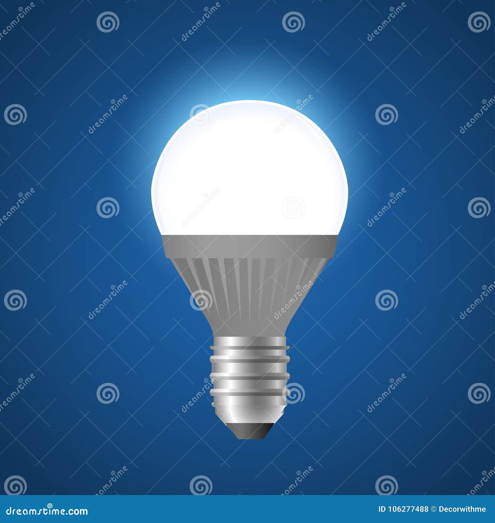 Glowing LED Light Bulb