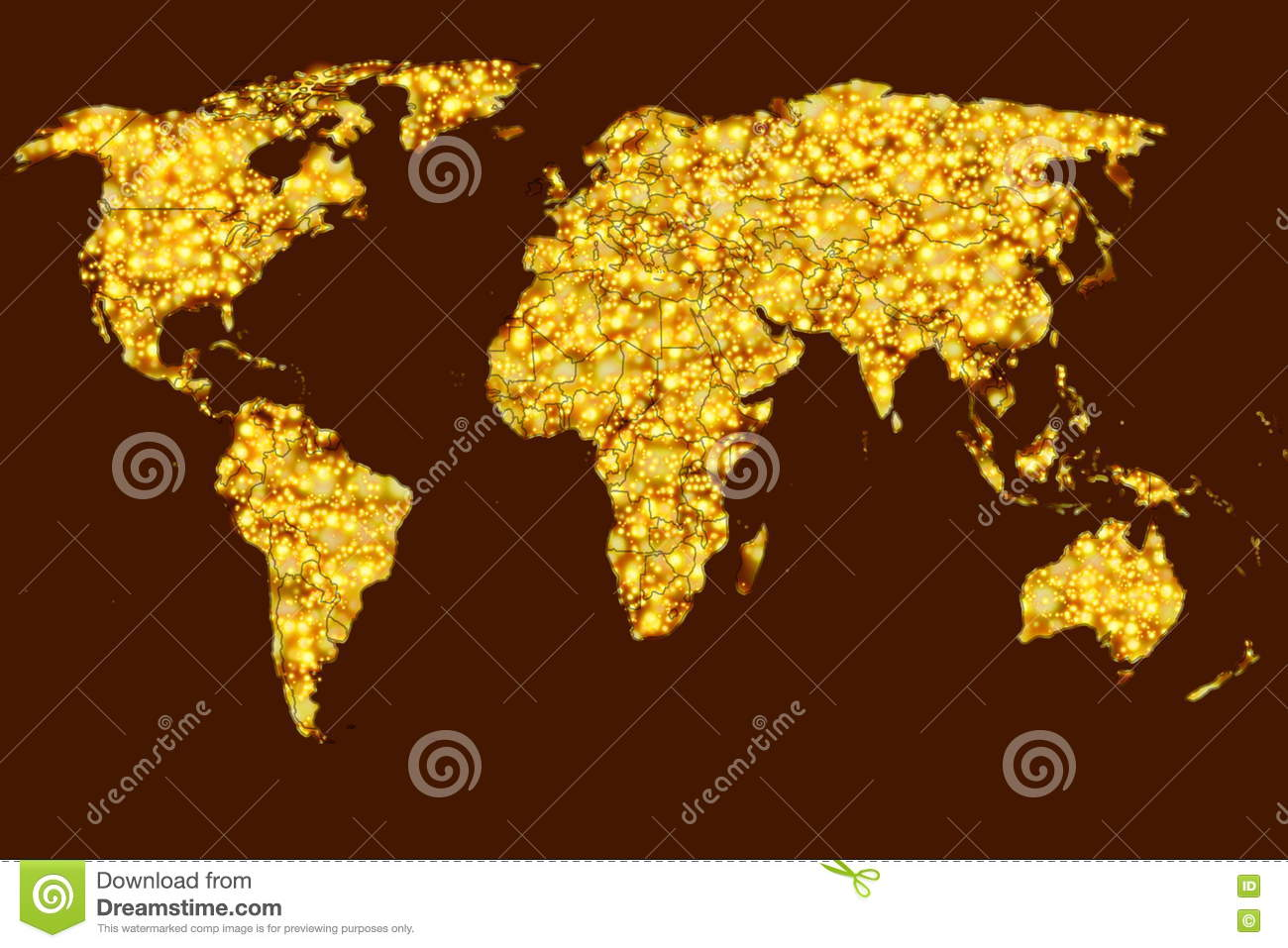 Glowing light world map in background stock illustration glowing light world map in background gumiabroncs Image collections