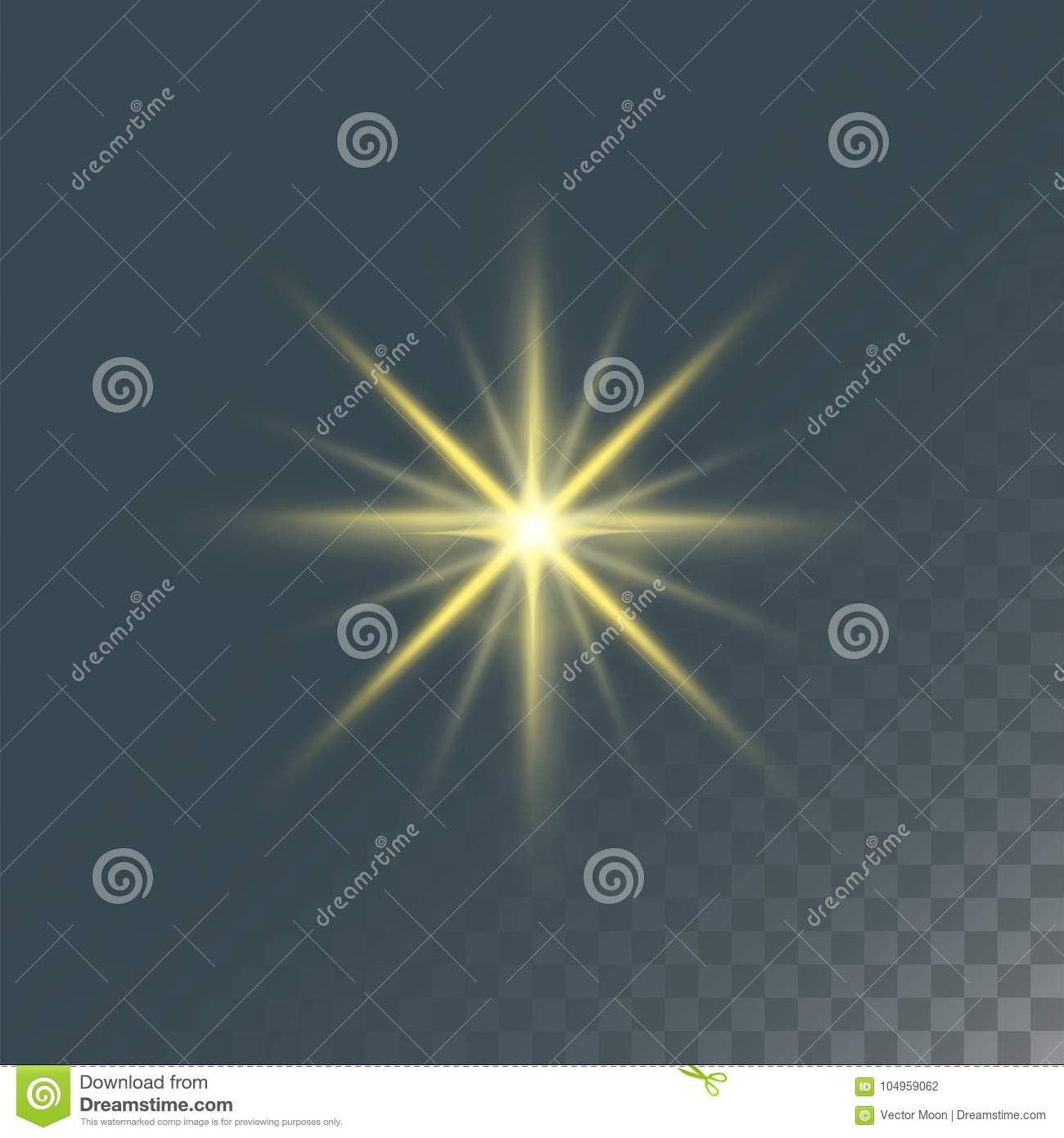 Glowing Lights Effect And Stars Effect Glow Blur Stars Stock Vector