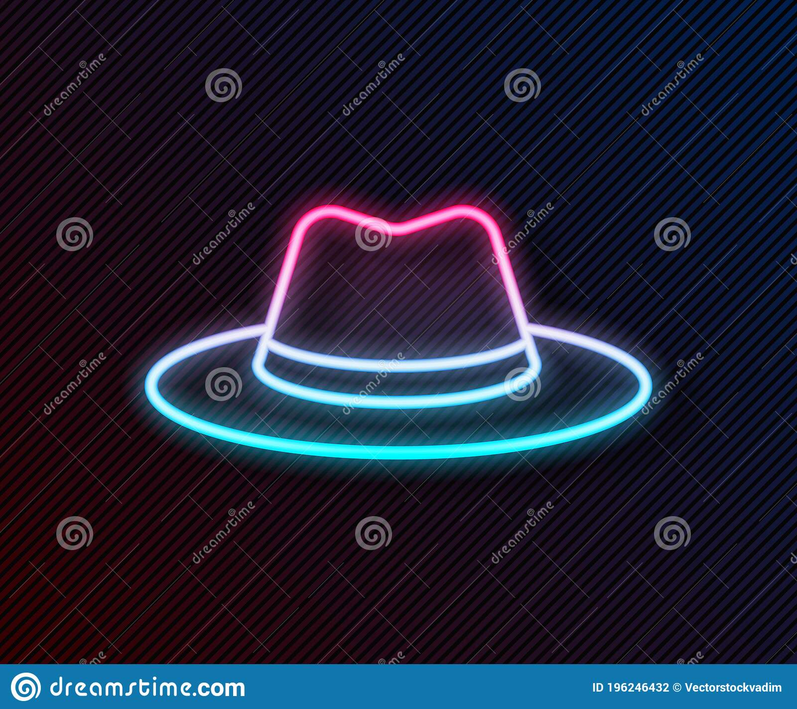 Neon Cowboy Hat Illustrations Vectors Use it in your personal projects or share it as a cool sticker on tumblr, whatsapp, facebook messenger. dreamstime com