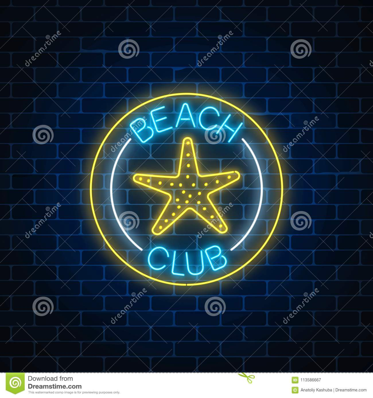 Star Symbol For Neon Topsimages