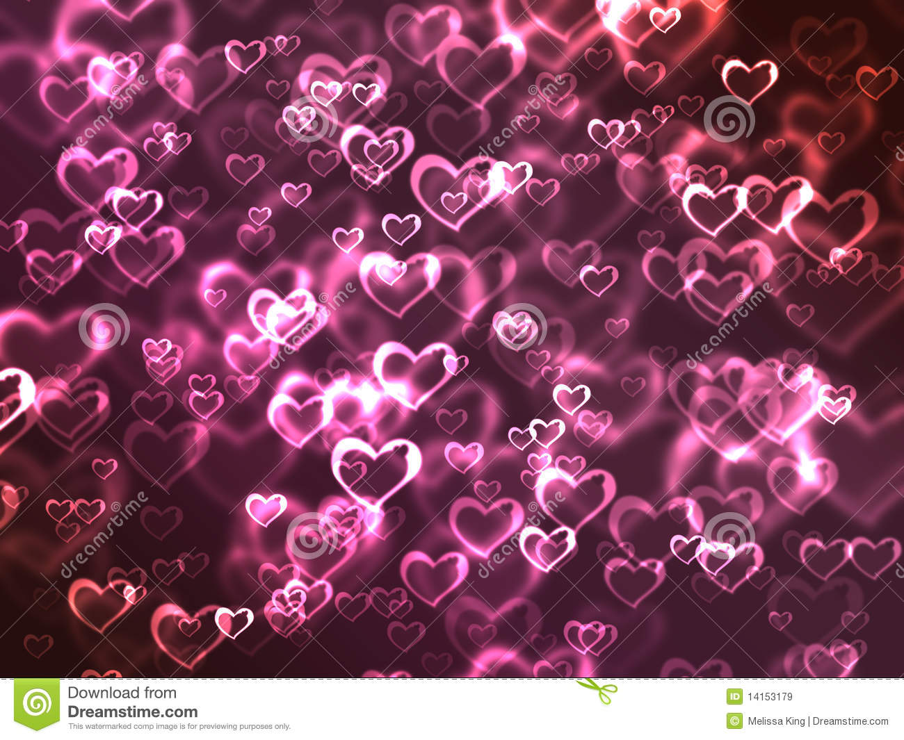 Glowing Pink Hearts Background Royalty Free Stock Images ...