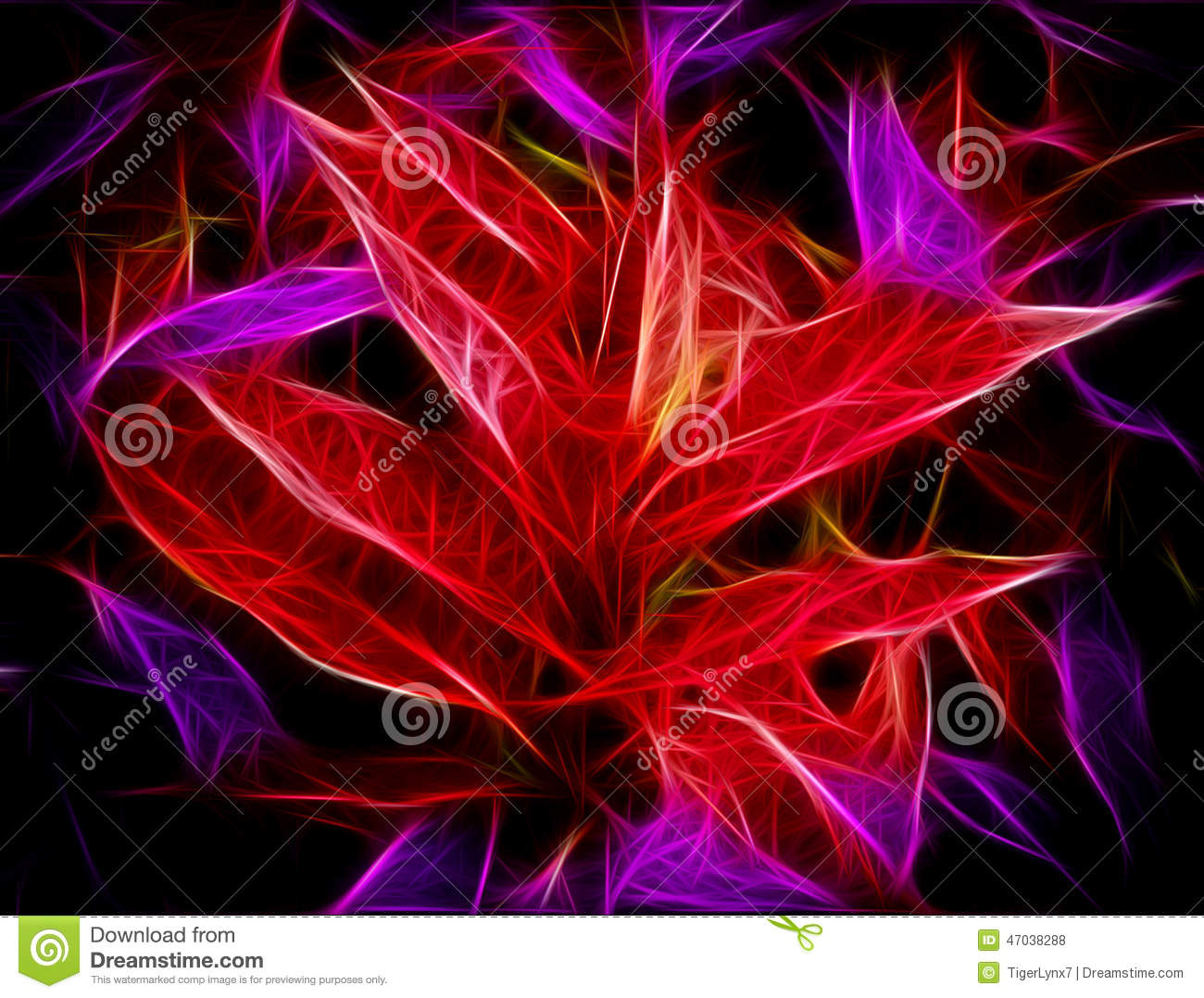 Glowing Red Purple Leaves Abstract Stock Photo - Image ...