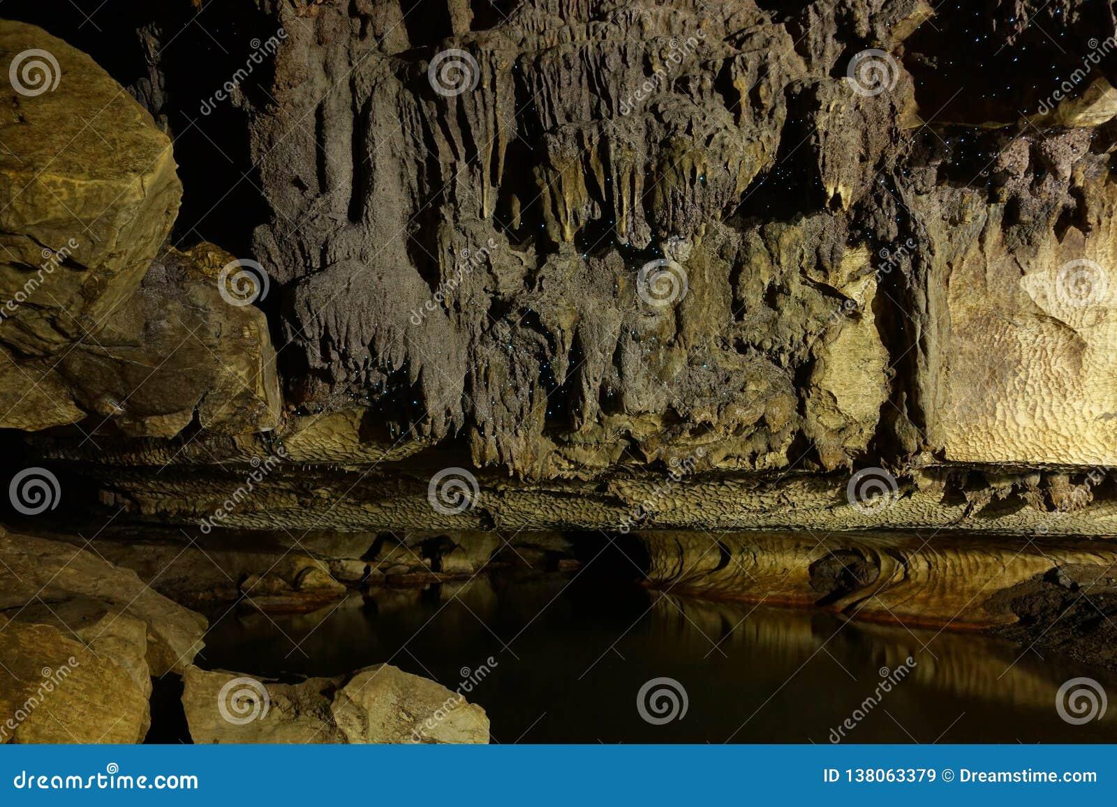 Glowworm jama blisko do Waitomo, Nowa Zelandia