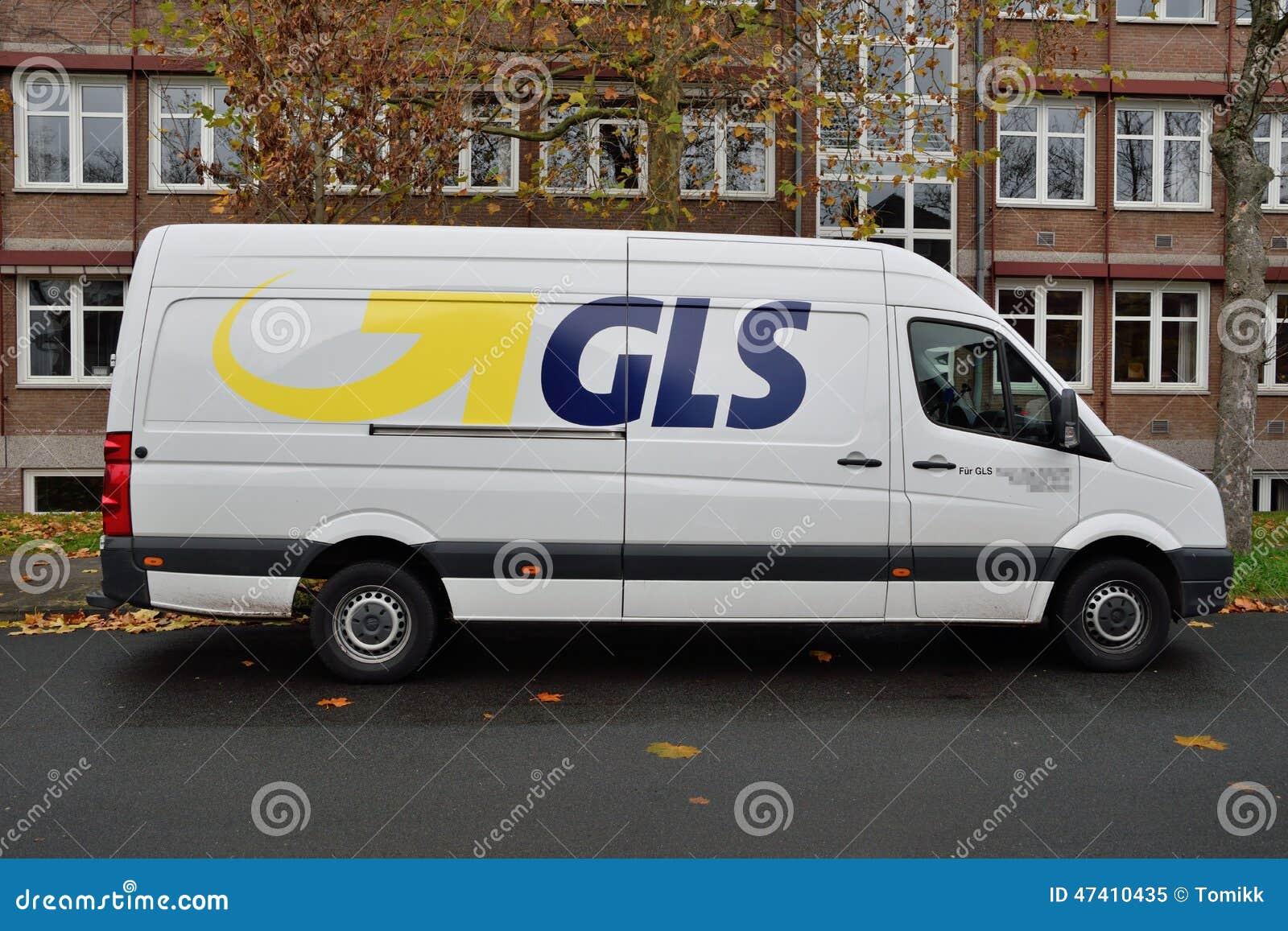 gls courier van delivery service editorial image image 47410435. Black Bedroom Furniture Sets. Home Design Ideas