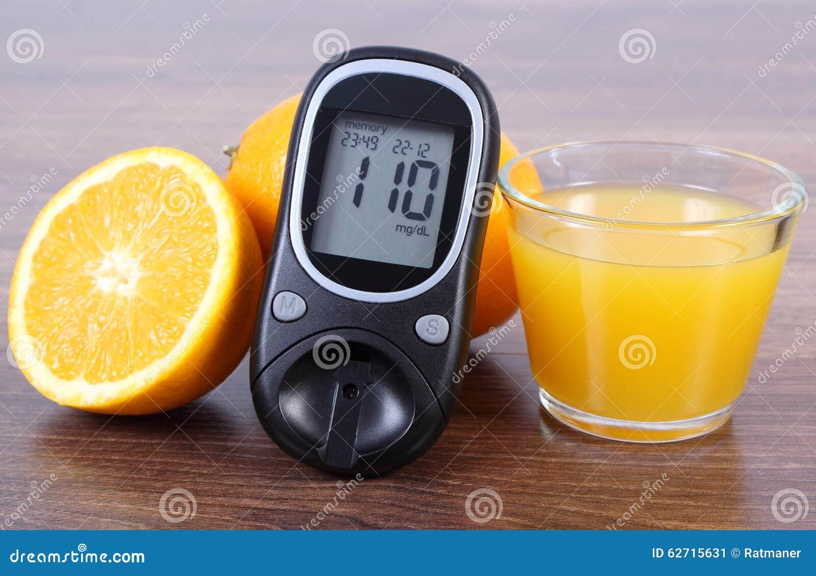 Spuntini Sani E Diabete : Glucometer arancia e succo fresco diabete stili di vita sani e