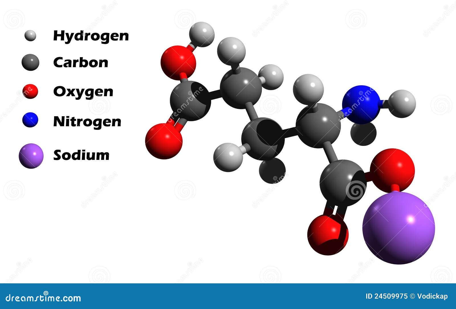 Sodium Model Sodium glutamate 3D model