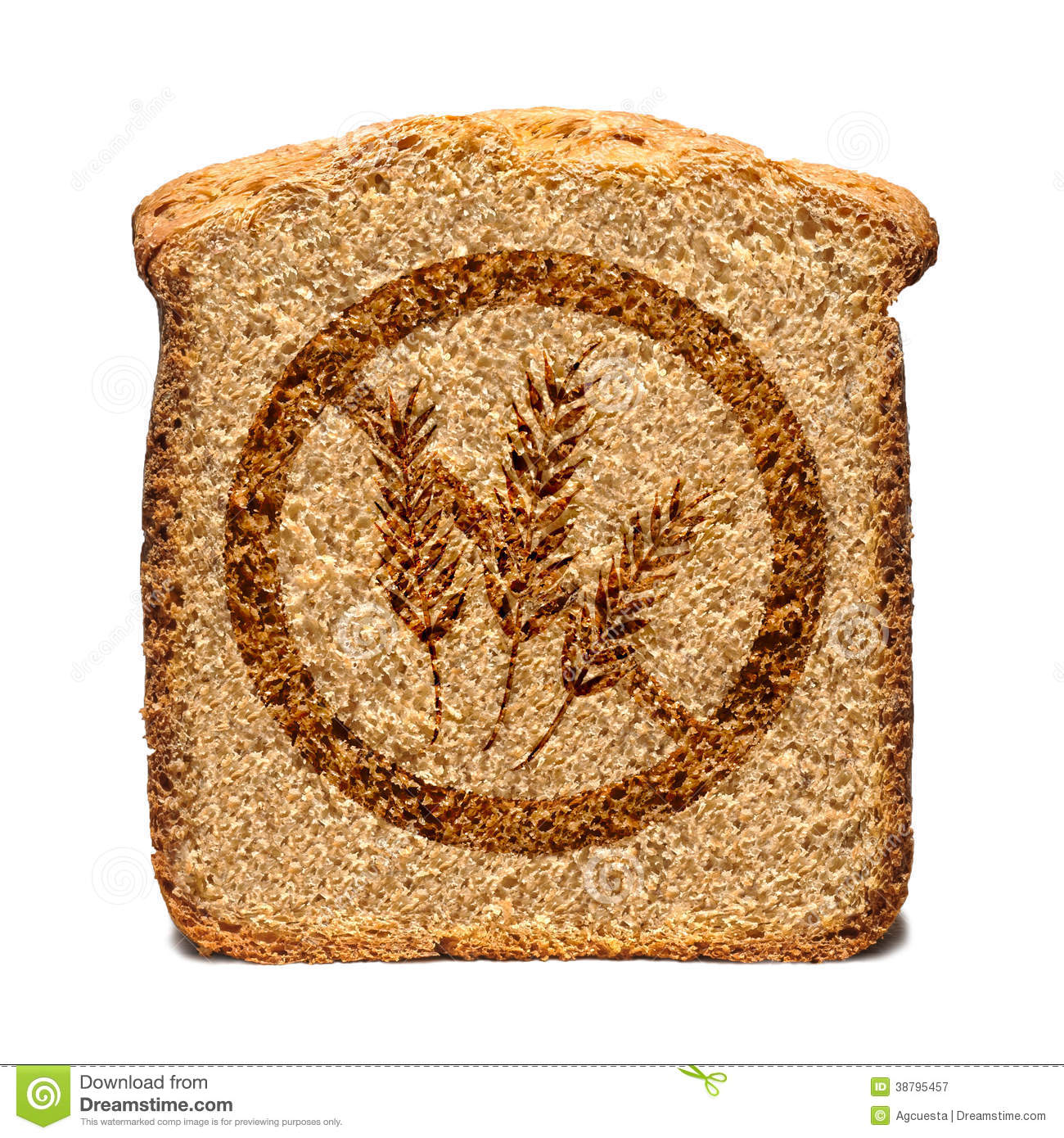 Gluten Free Bread Stock Illustration - Image: 38795457