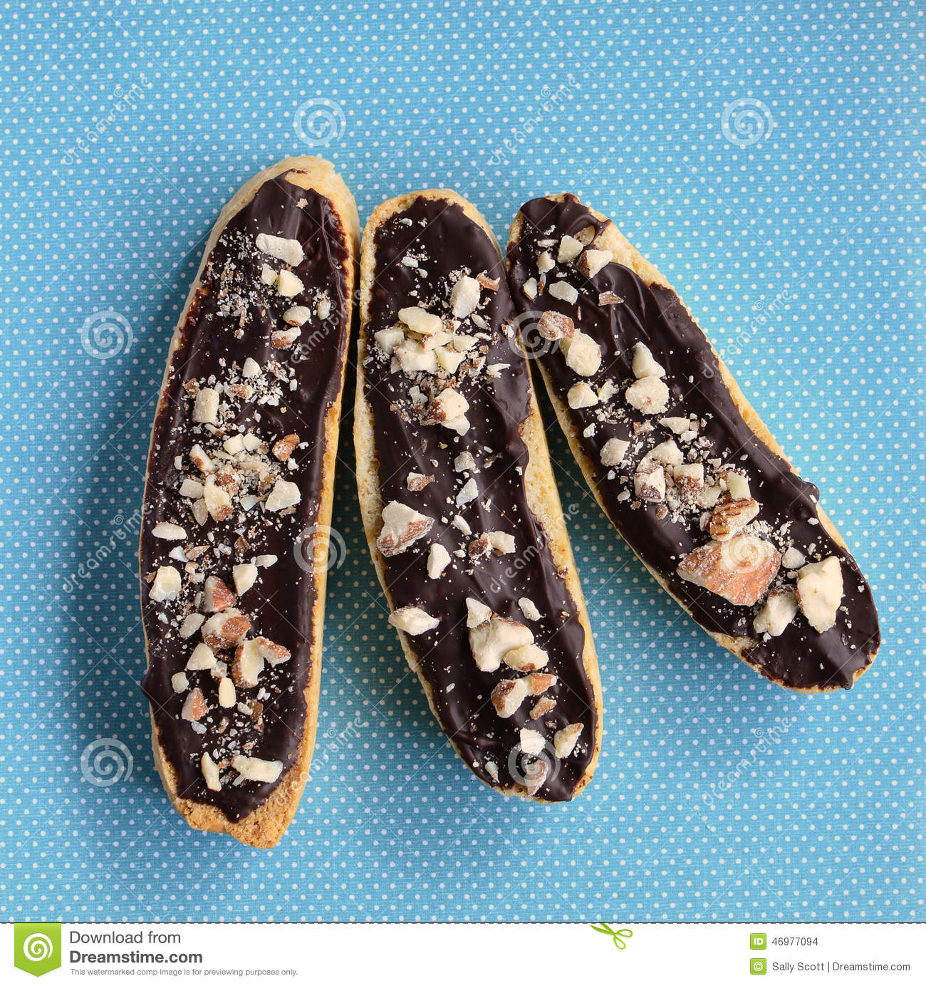 Gluten Free Chocolate Almond Biscotti Stock Photo - Image: 46977094