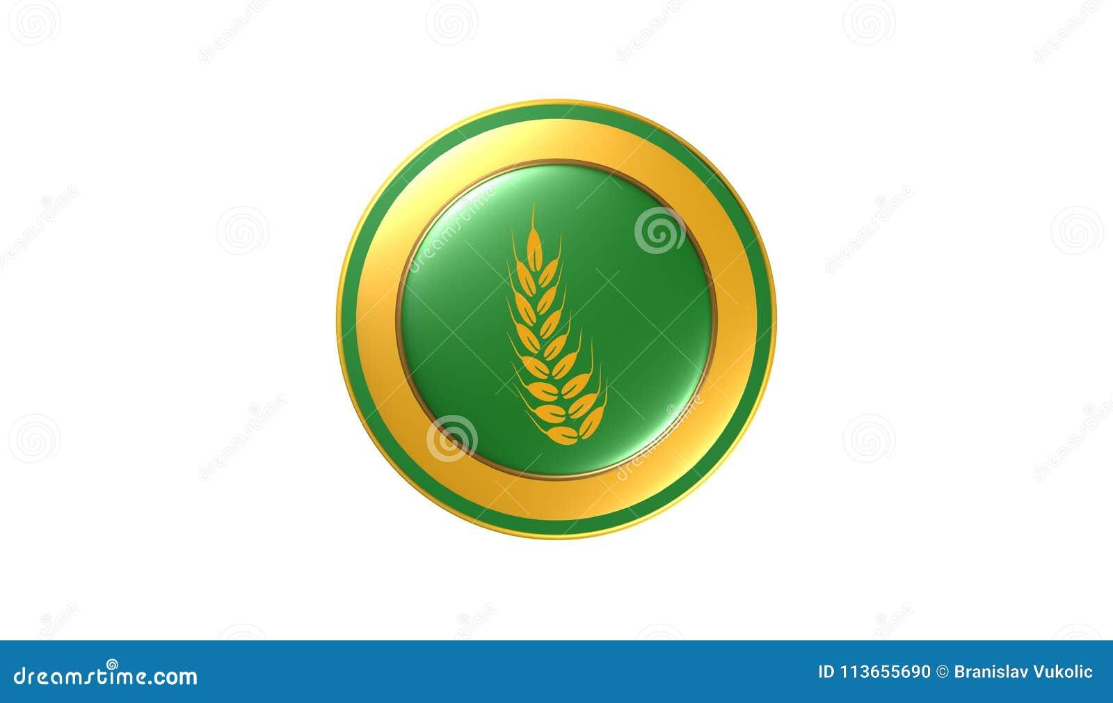 Gluten Free Icon,sign,best 3D Illustration Stock