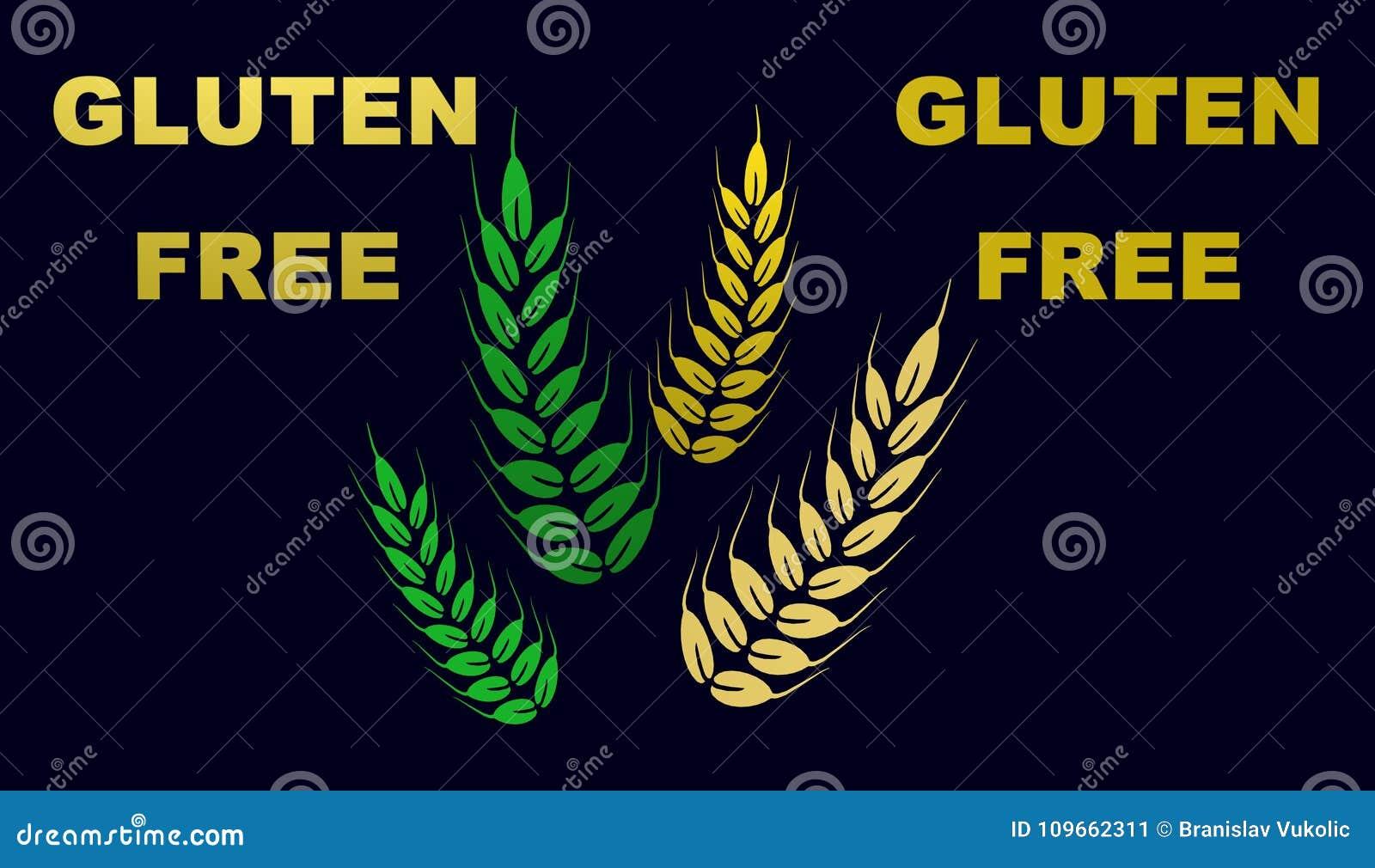 Gluten Free Icon,sign,3D Illustration,best Icon Stock