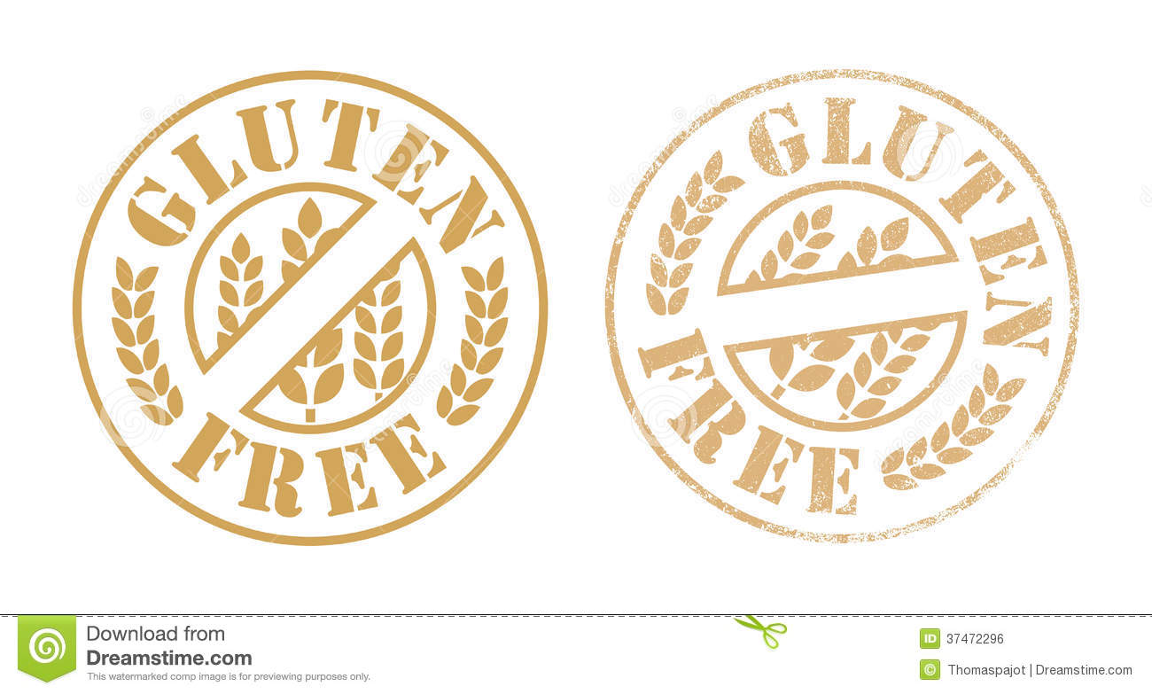 Gluten Free Rubber Stamp Ink Royalty Free Stock Image