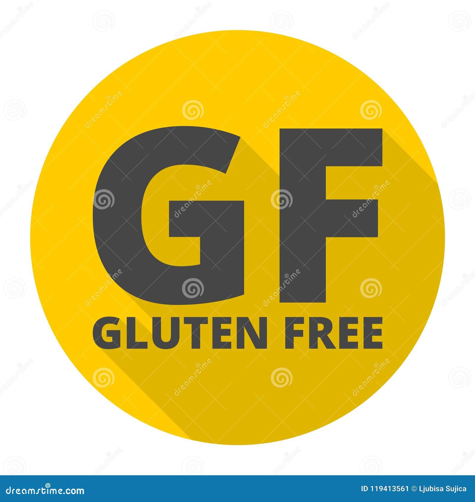 Gluten free Sign icon stock vector  Illustration of