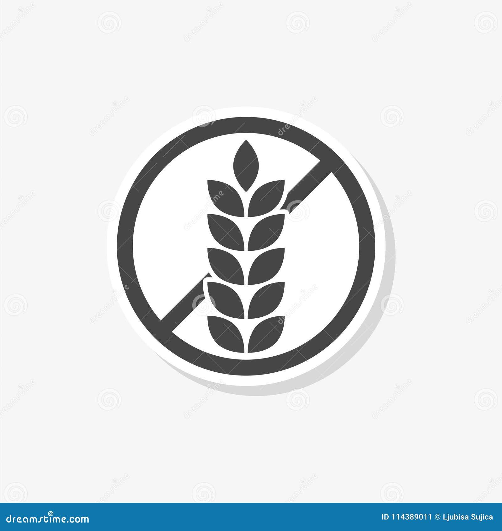 Gluten Free Sign Sticker, Simple Vector Icon Stock Vector