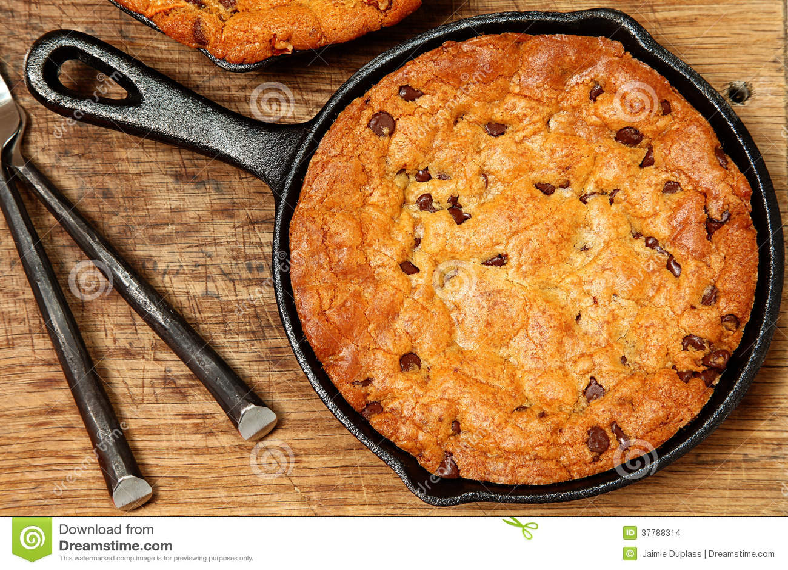 Gluten Vrije Chocolade Chip Skillet Cookie