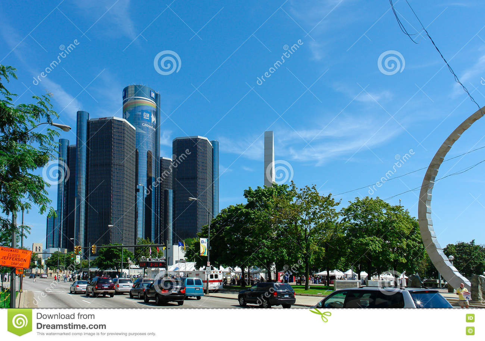 GM Renaissance Center, Rencen in Detroit, Michigan, USA
