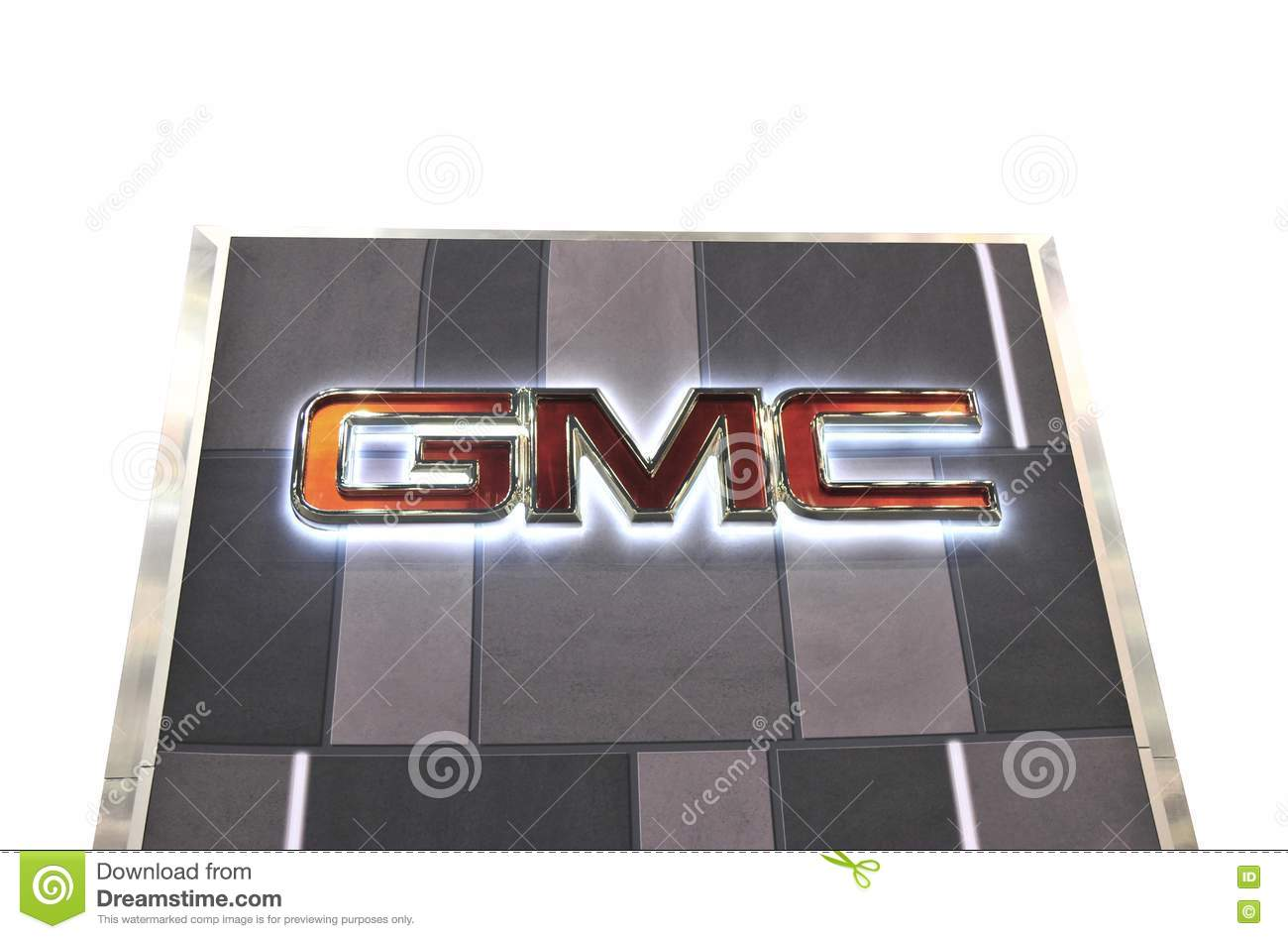 Gmc Sign Isolated On White Background Editorial Stock Photo Image