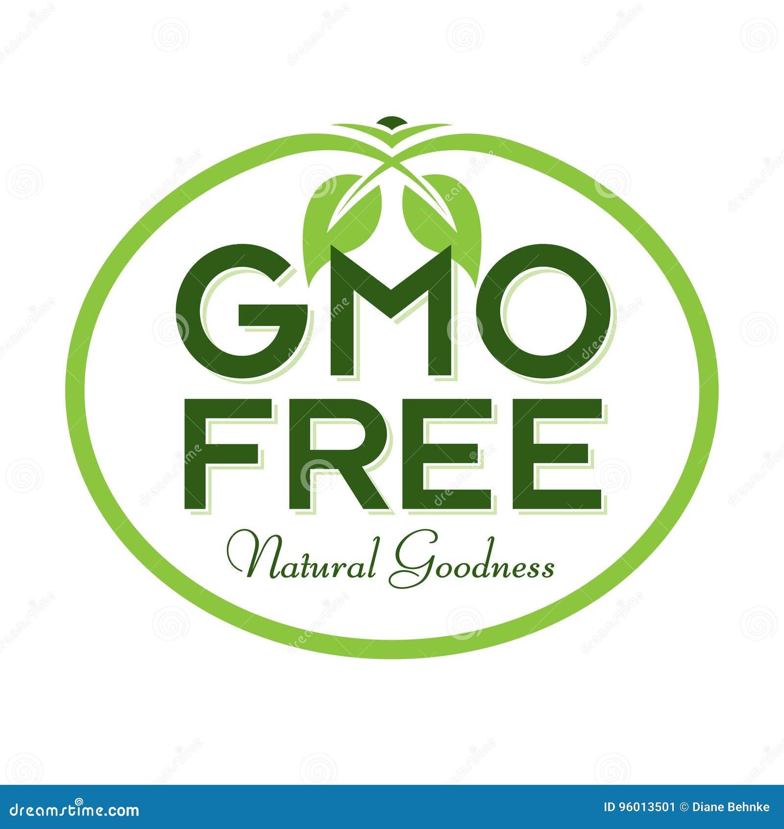 Gmo Free Natural Goodness Logo Icon Symbol Stock Vector