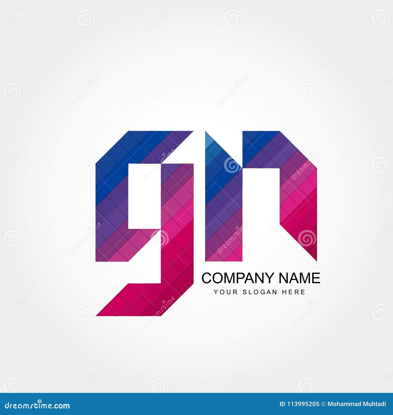 GN-Buchstabe Logo Design