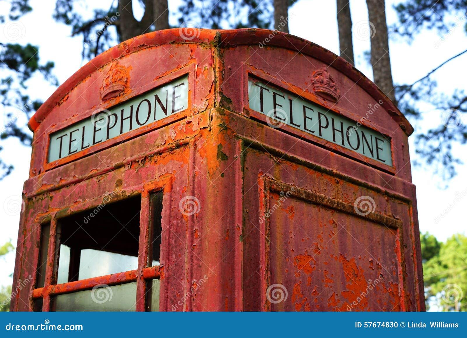 Gnić Brytyjski telefoniczny budka