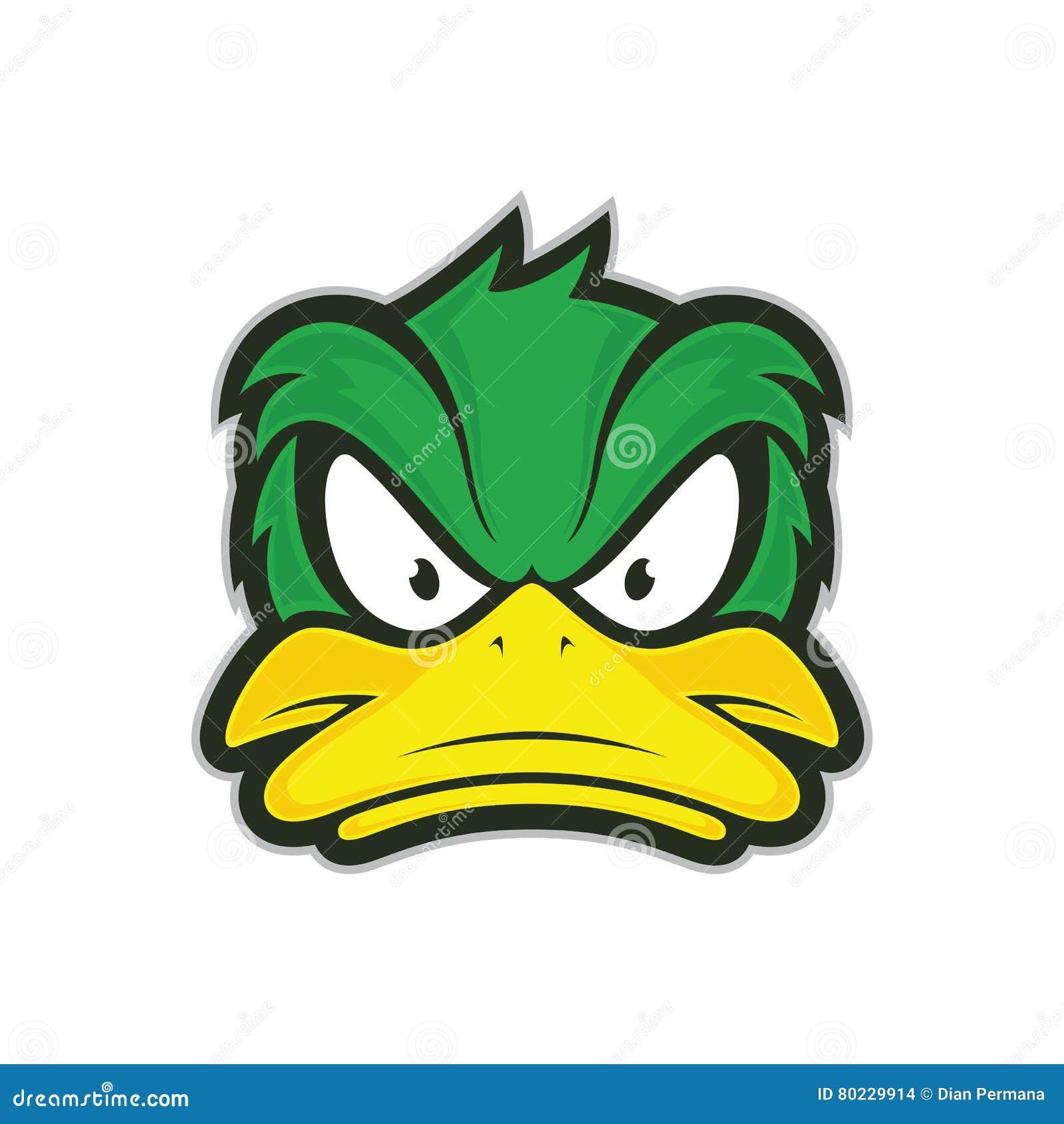Gniewna kaczki maskotka
