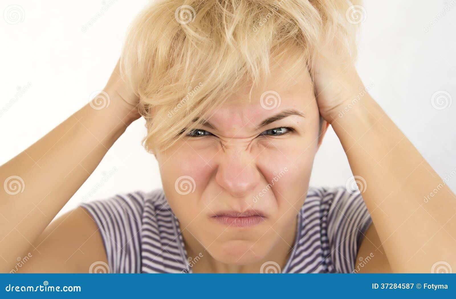 Gniewna kobieta