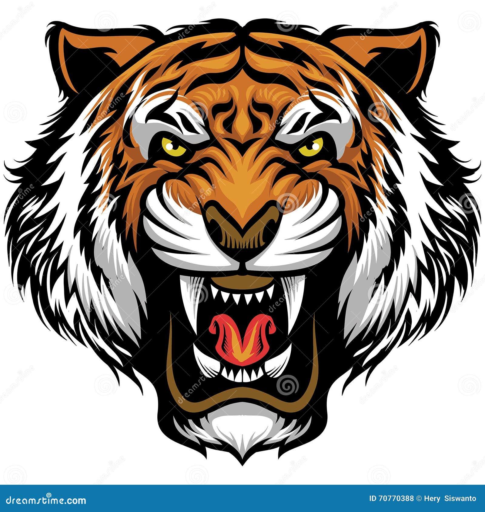 Gniewna tygrysia twarz