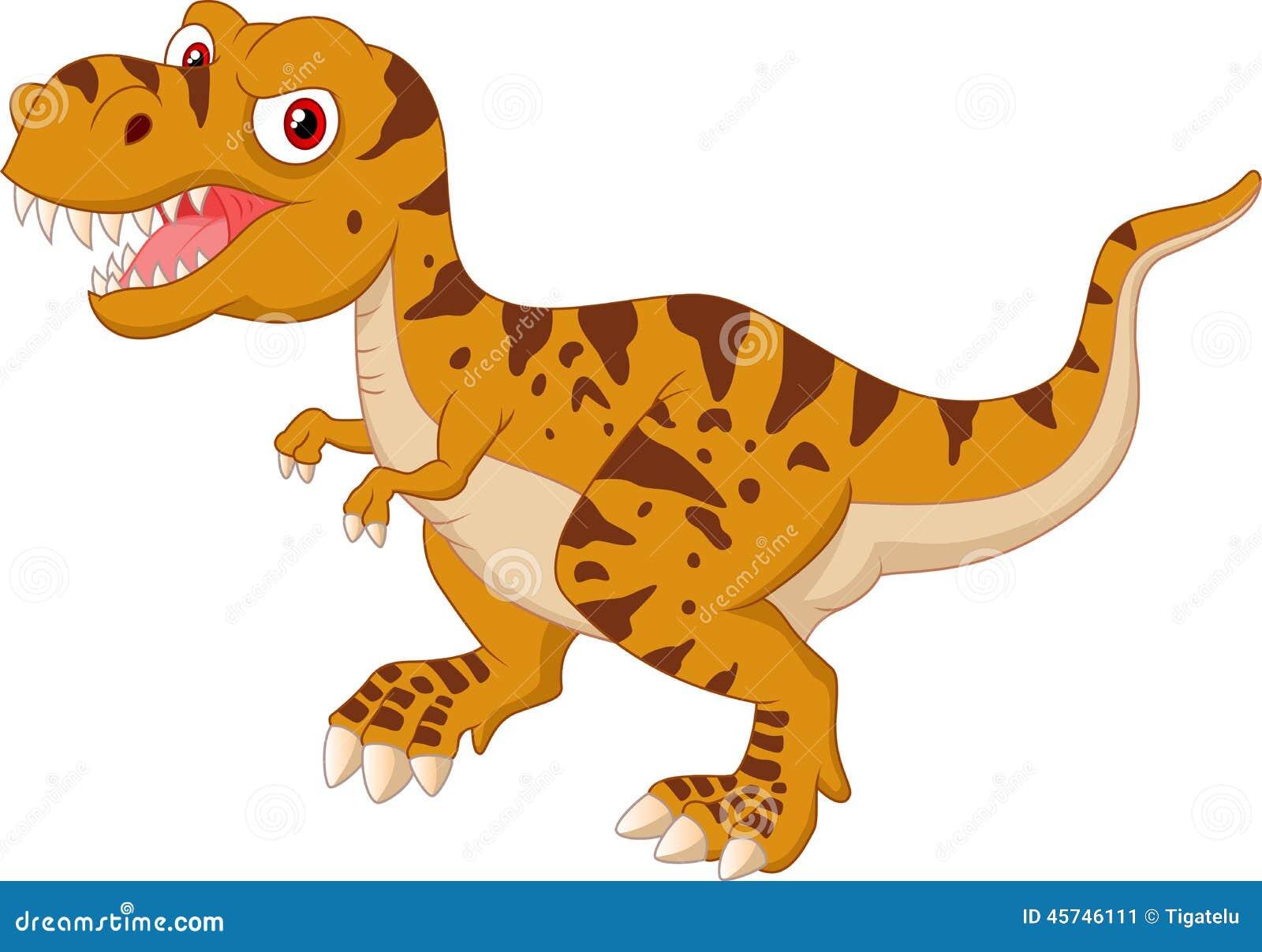 Gniewna Tyrannosaurus kreskówka