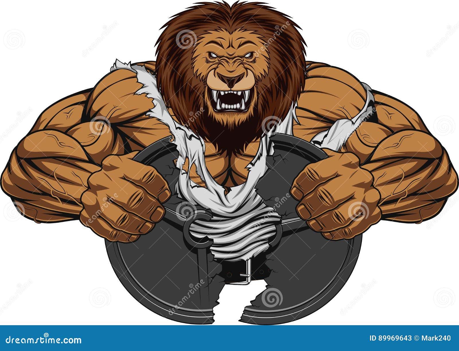 Gniewny lew silny
