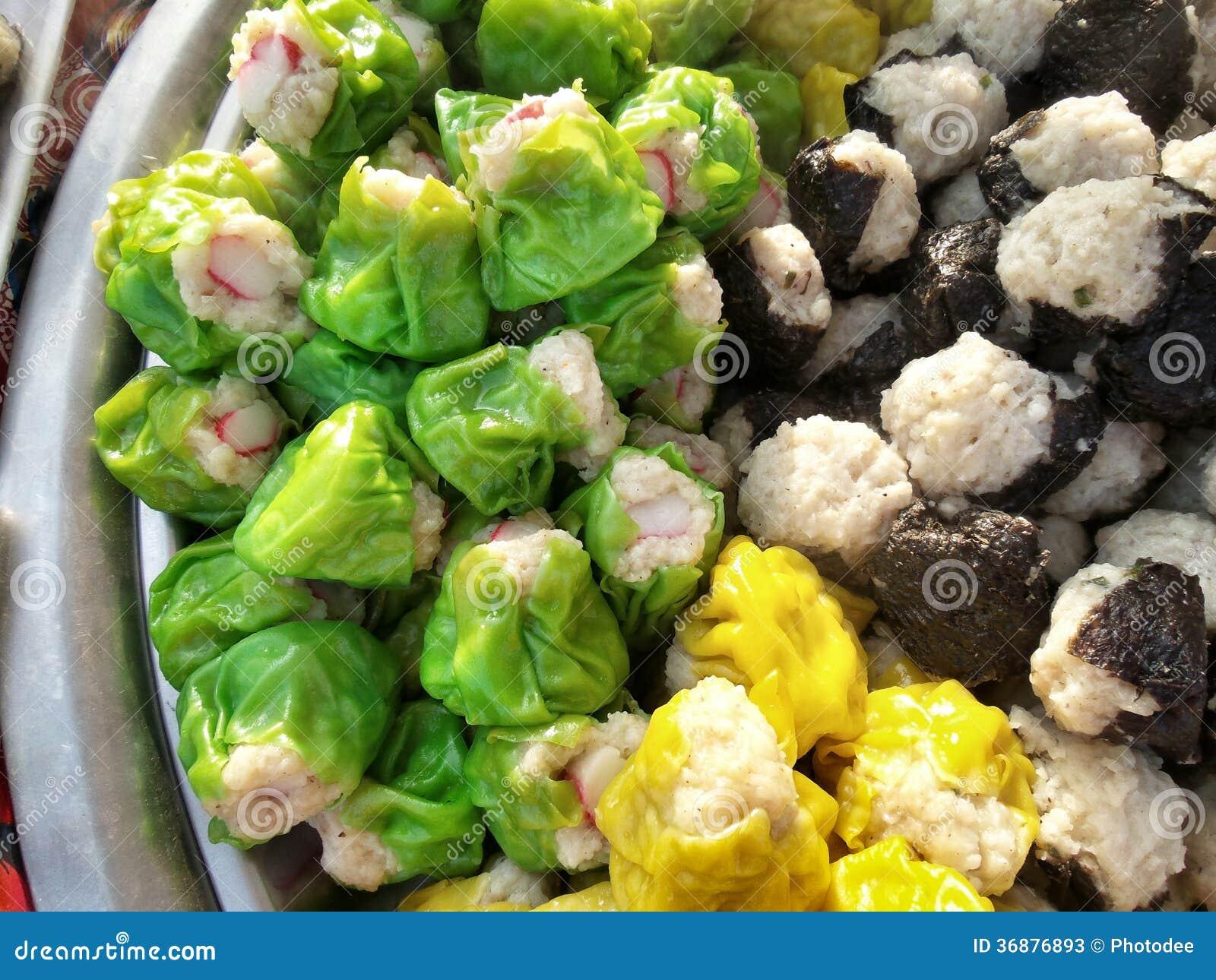 Download Gnocchi Della Carne Di Maiale Cotti A Vapore Cinese Immagine Stock - Immagine di pasto, farcito: 36876893