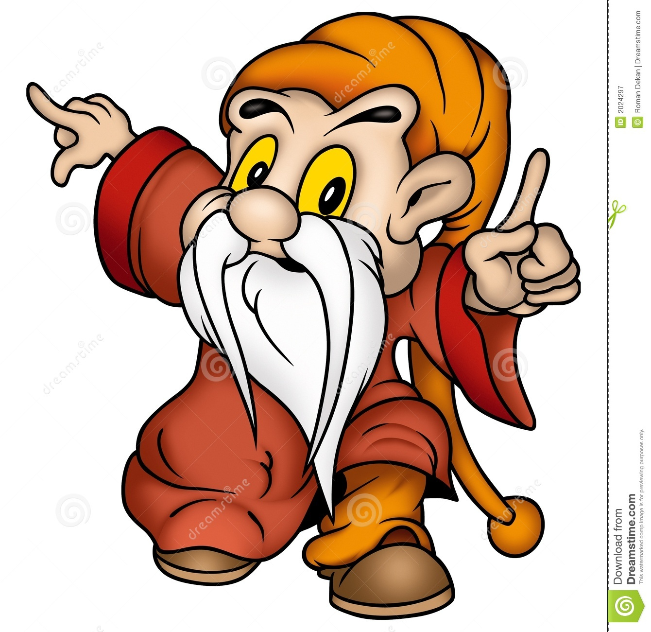 Gnome Clip Art: Gnome & Red Clothing Stock Illustration. Image Of Cartoons