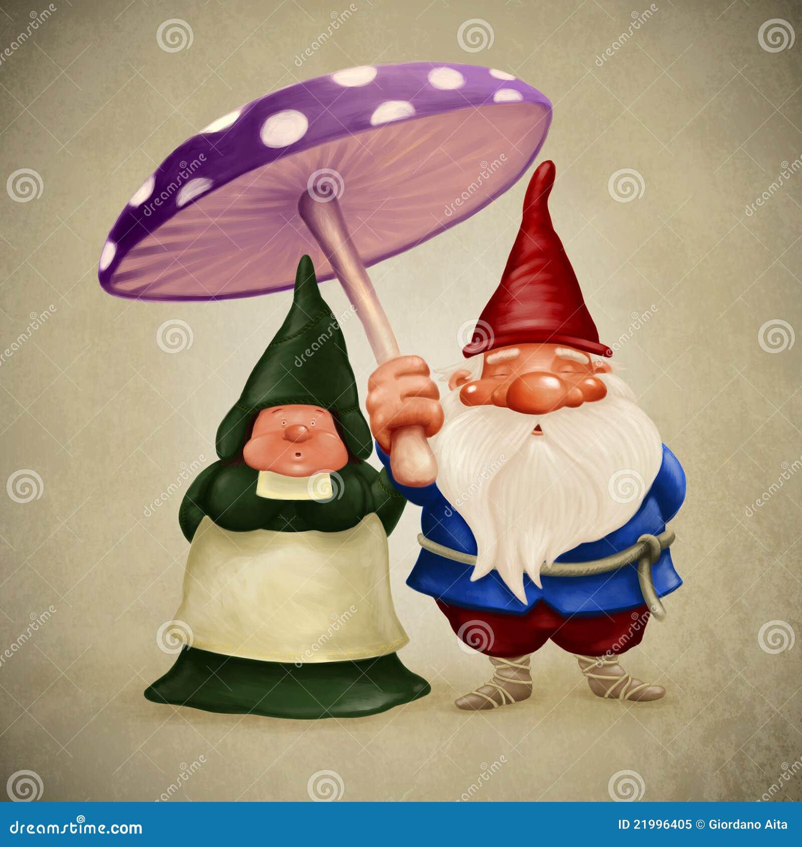 Gnomes degli sposi illustrazione di stock illustrazione for Degli sposi