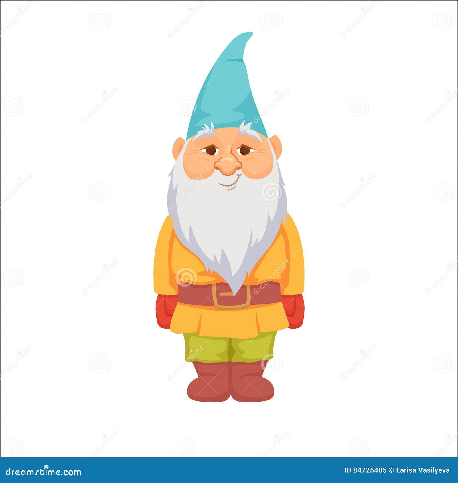 Gnome Clip Art: Gnomes. Funny Dwarf Cartoon Vector