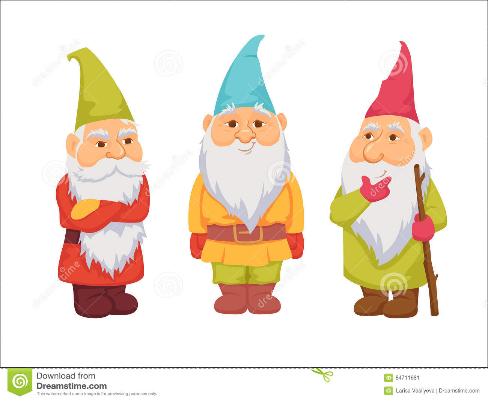 Gnome Clip Art: Gnomes Vector Set Stock Vector. Illustration Of Garden