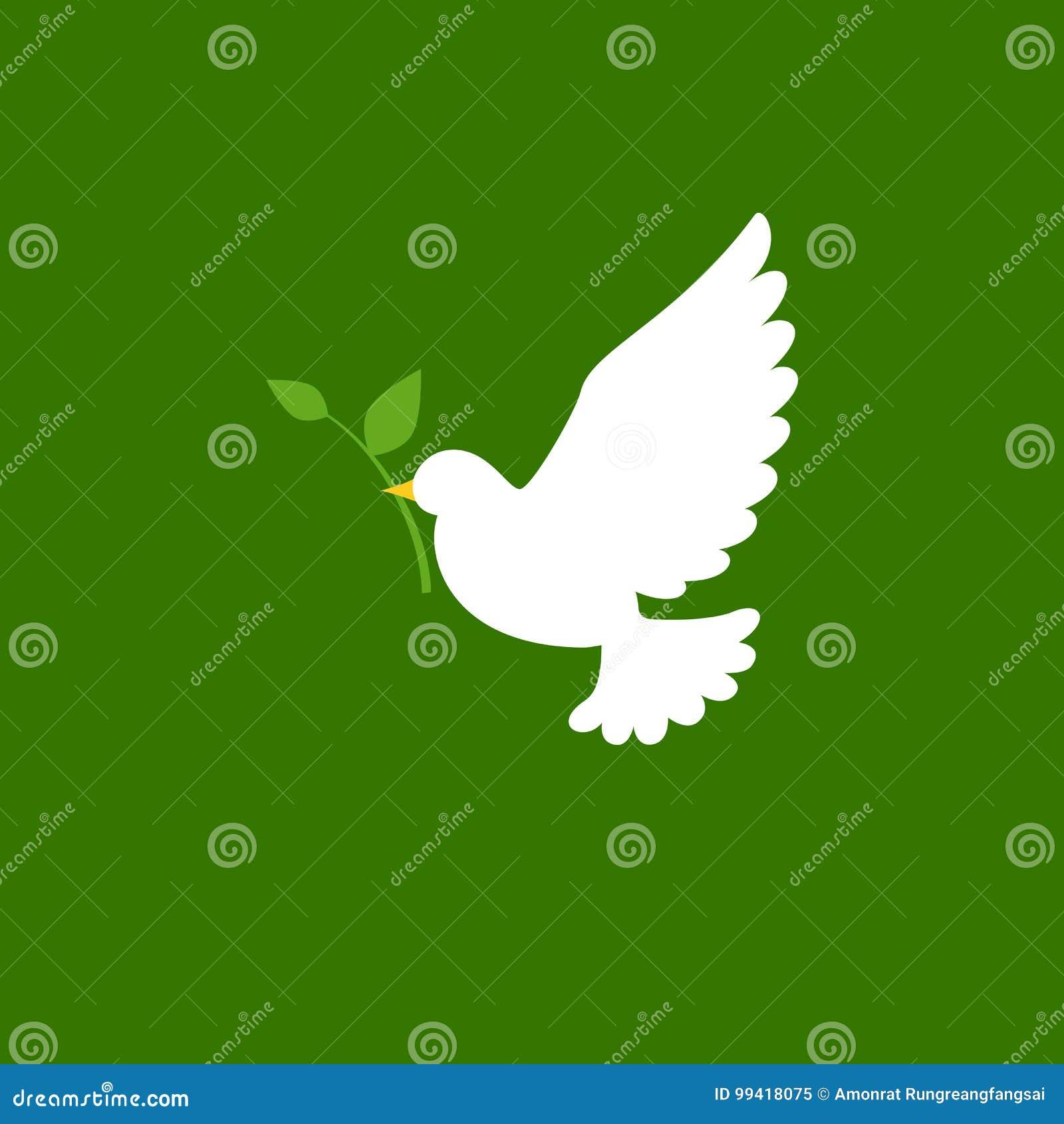 Gołąbki i gałązki oliwnej ikona