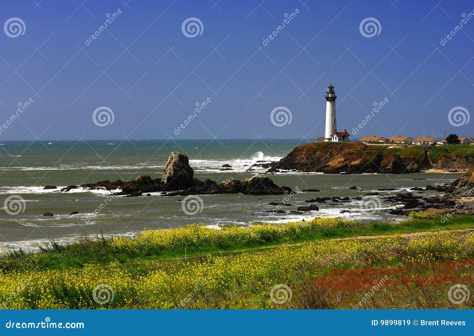 Gołębi latarnia morska punkt
