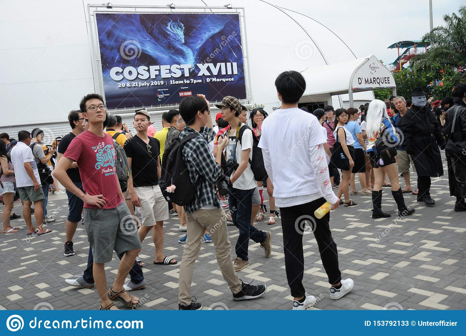 Goście przy Cosfest 2019 w Singapur W centrum Wschodni d «markiza