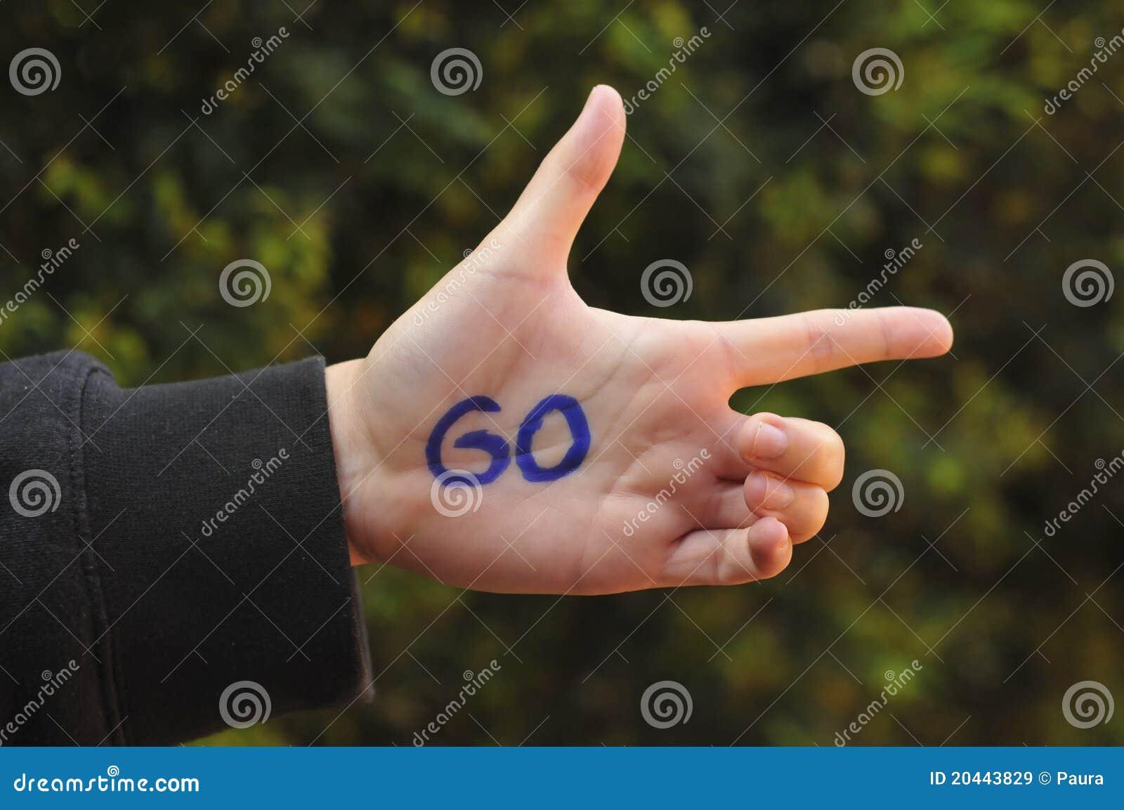 Go ahead hand gesture