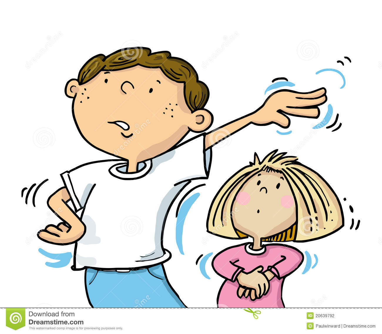 Go Away! Stock Vector. Illustration Of Children, Kids