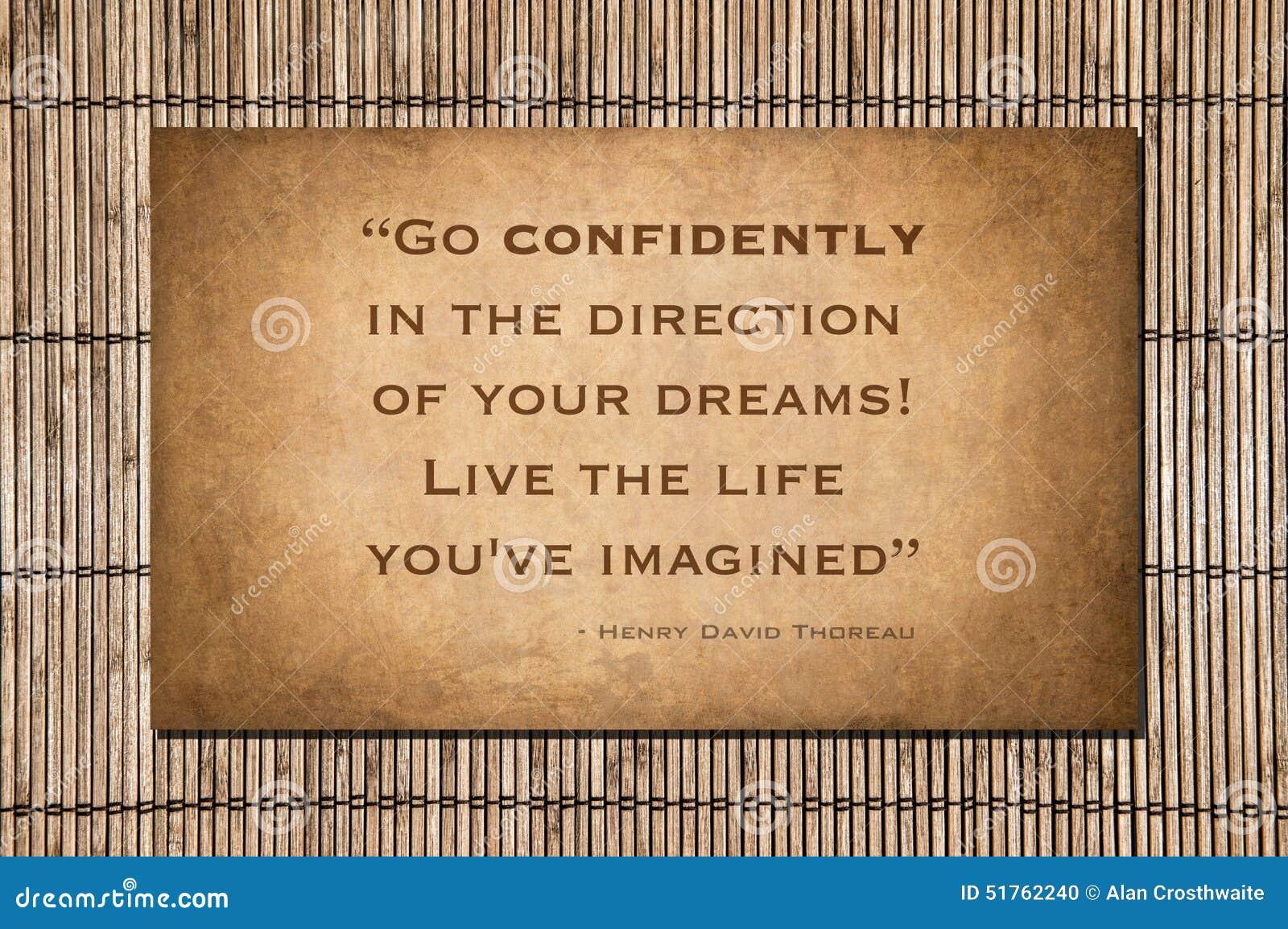 Go Confidently Henry David Thoreau Stock Photo Image Of Life