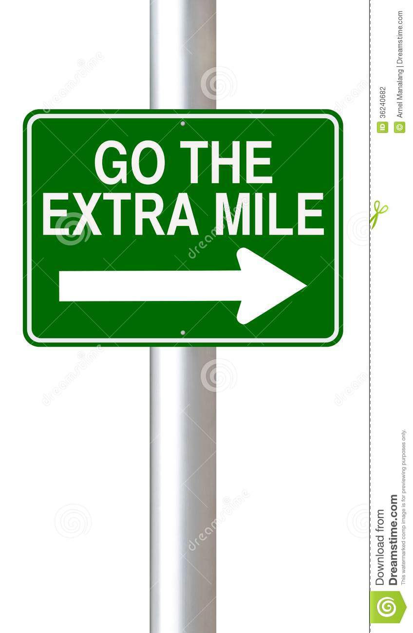 Go The Extra Mile Stock Photography - Image: 36240682