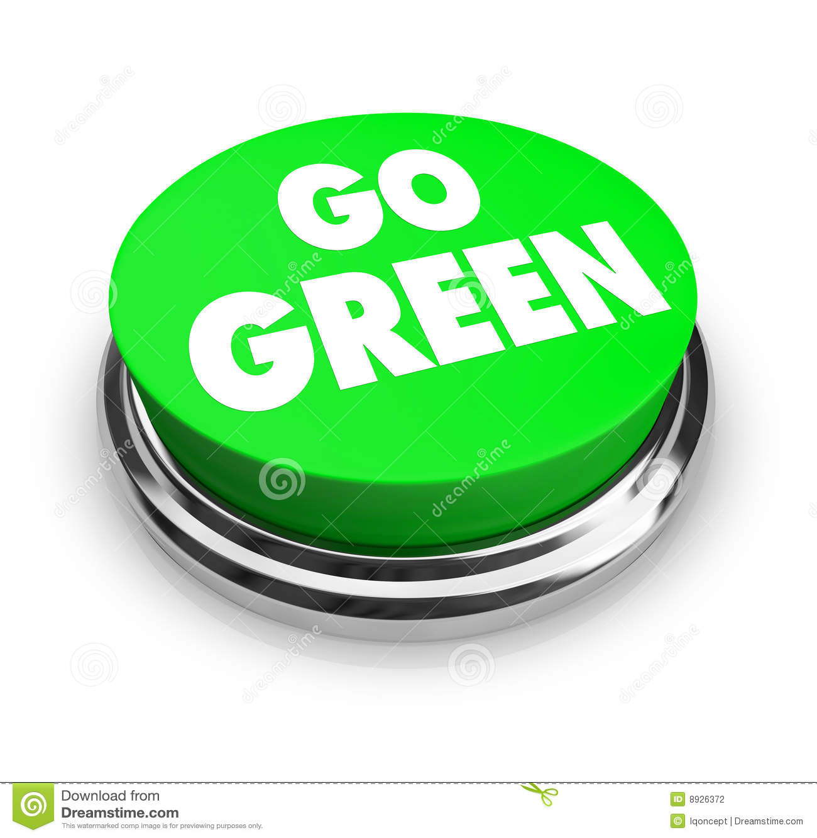 Go green button stock illustration. Illustration of round