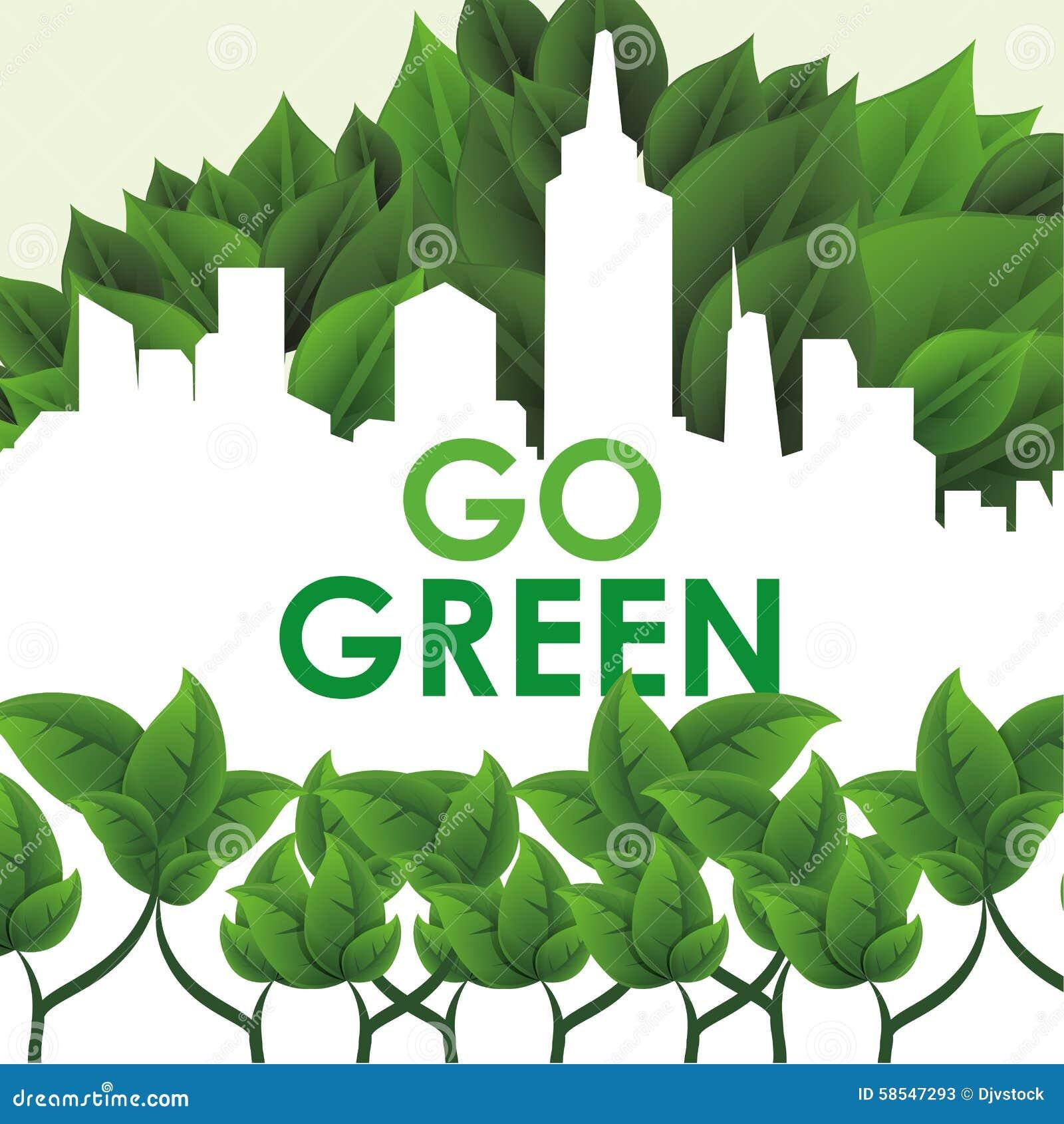 Go Green Design Stock Vector Image 58547293