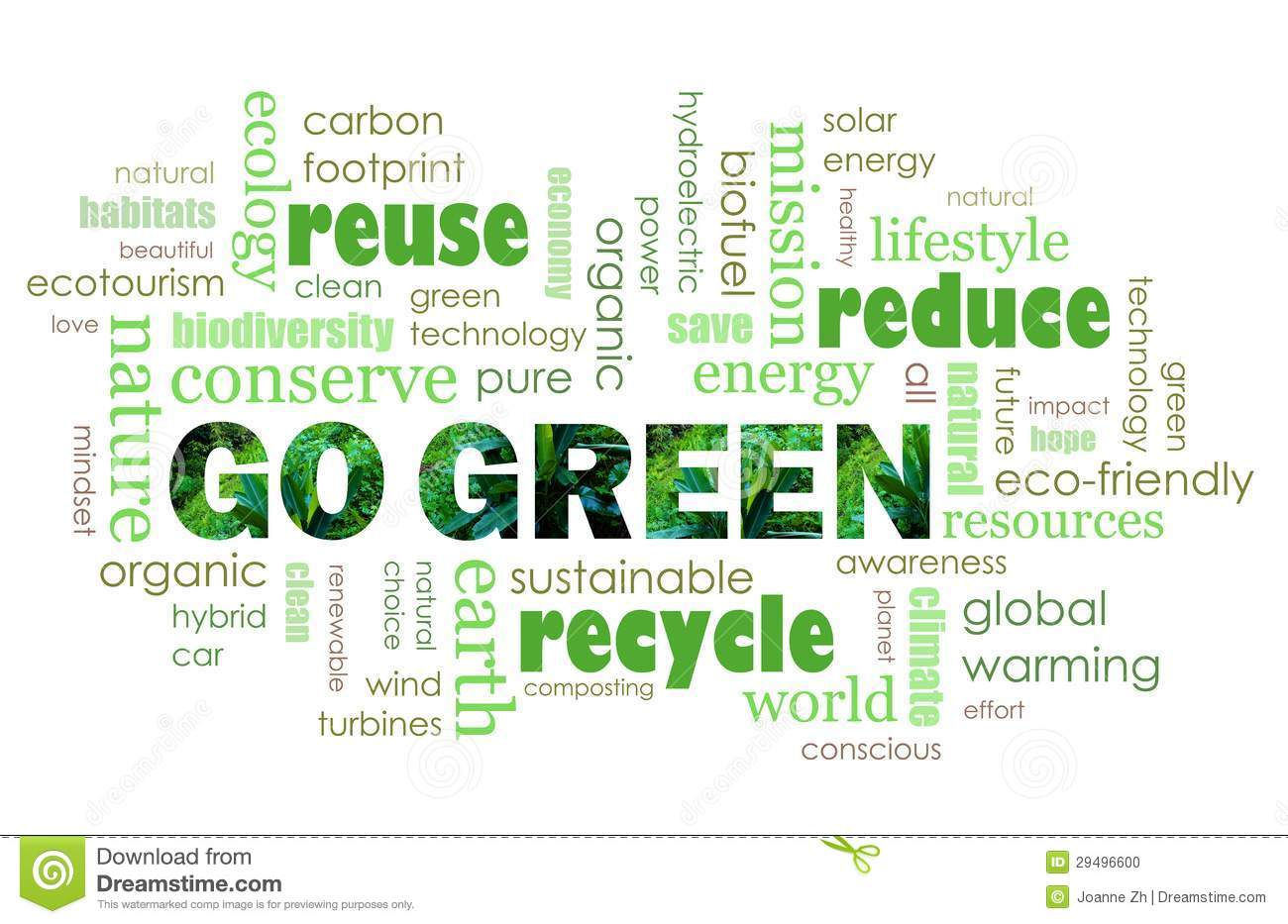 Go Green Eco Friendly Concept Stock Photo - Image: 29496600