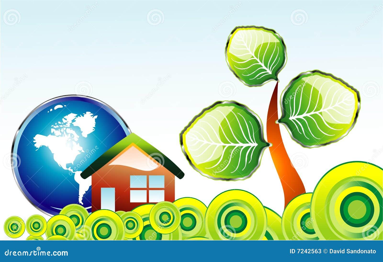 go green environment card stock vector illustration of foliage
