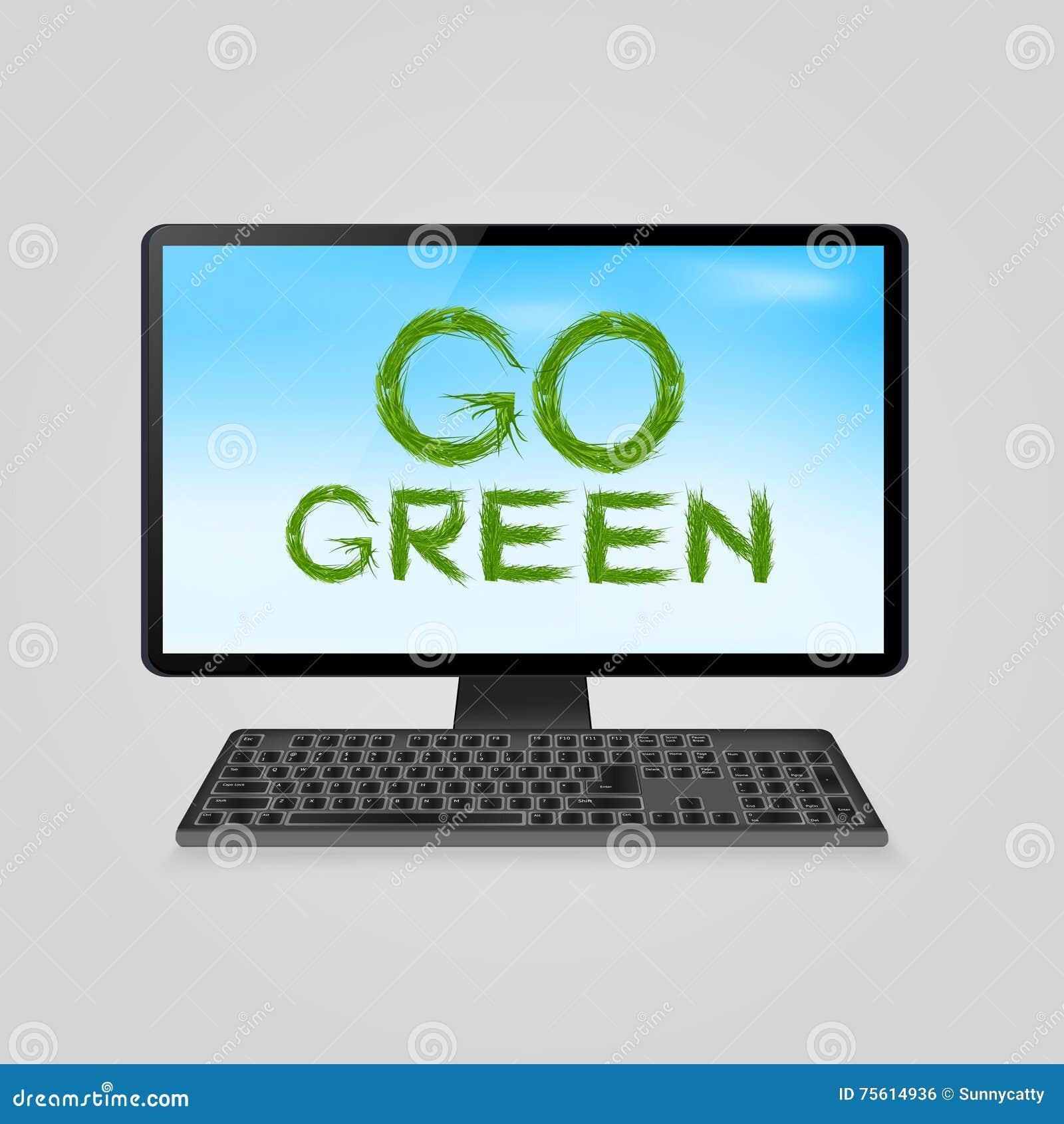 Environmental Concept Earthfriendly Landscapes: Environment Friendly Computer Cartoon Vector