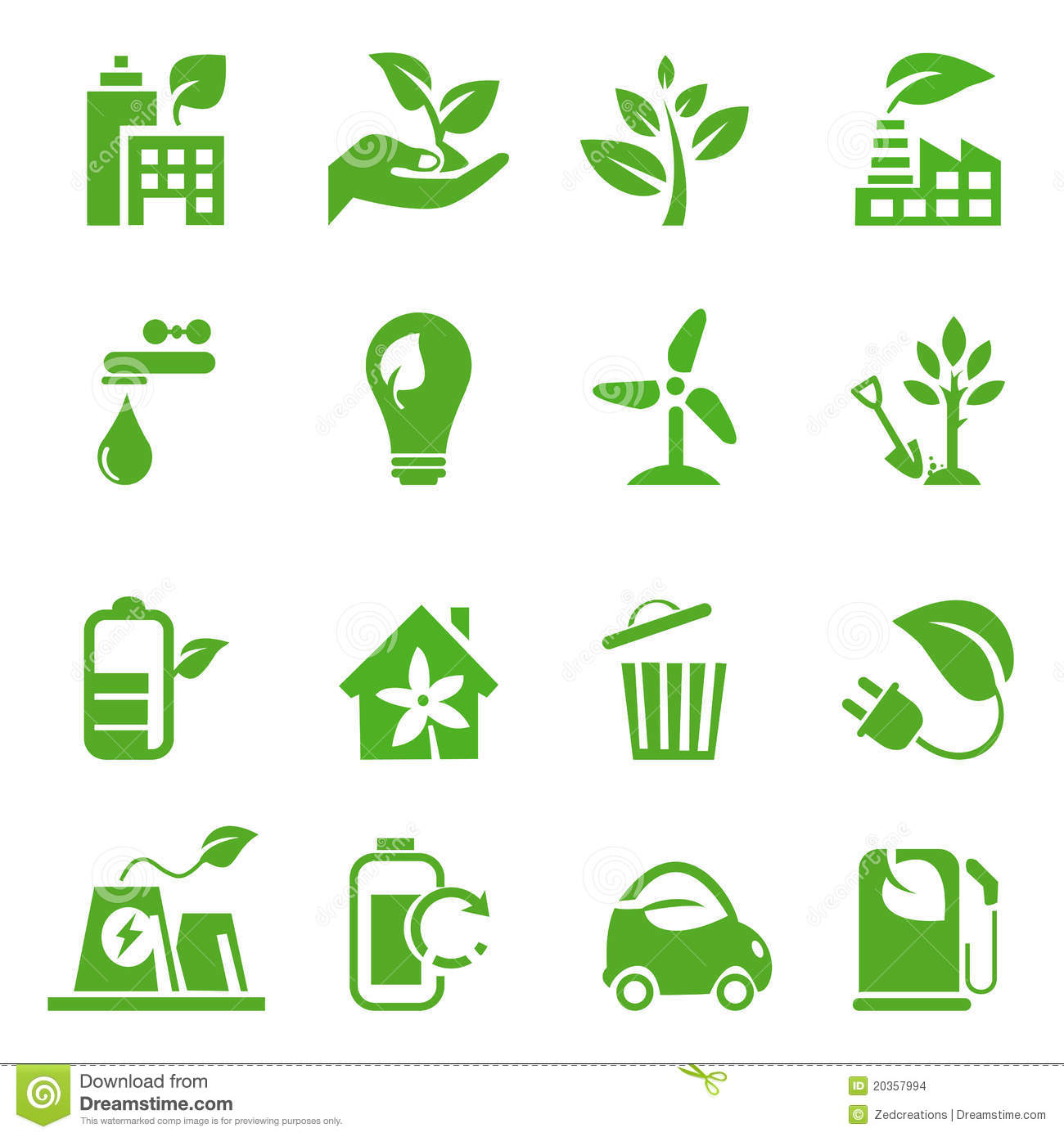 Go Green Icons Set 02 Stock Images Image 20357994