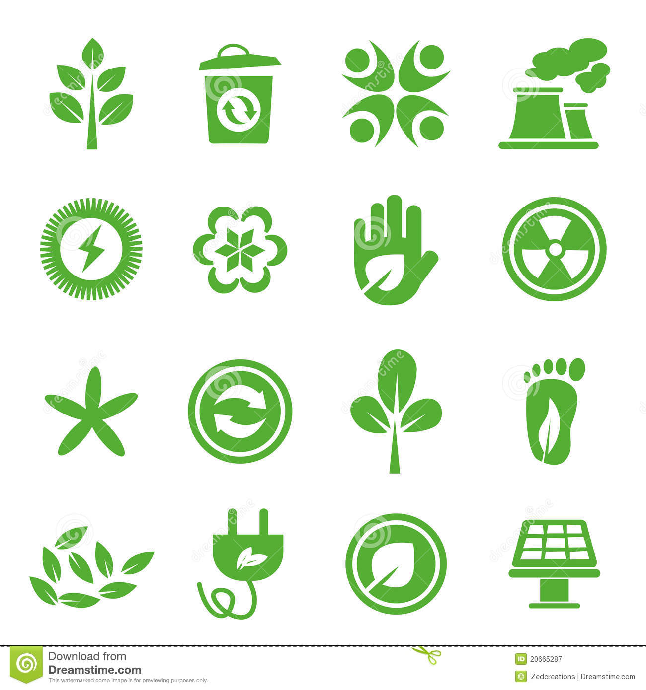 Go Green Icons Set 04 Stock Vector Illustration Of Leaf 20665287