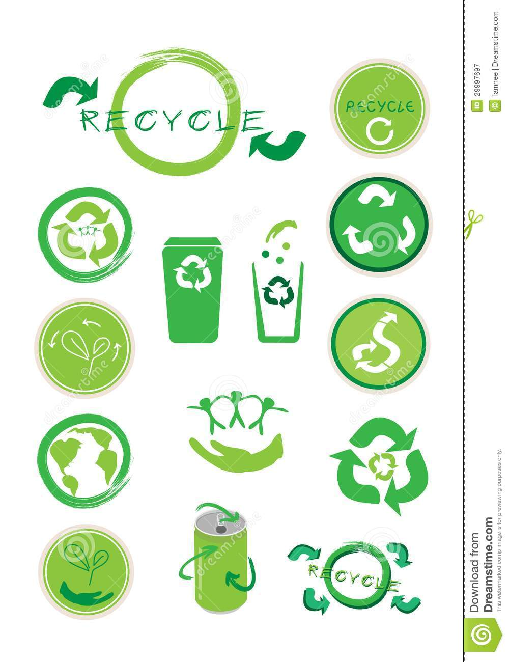... Ecology Icon and Recycle Concept Icon for Save The Earth Concept
